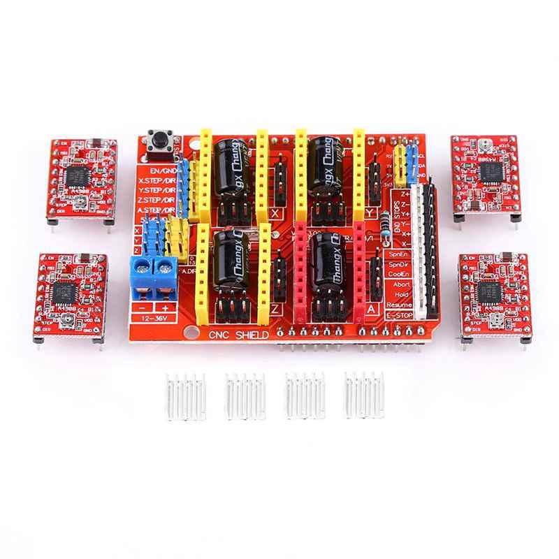 Top-3D CNC シールドボード uno R3 + 4 個 A4988 Arduino 3D プリンタ用