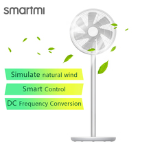 Velocidade stepless do fã 20w2800mah 100 da frequência da c.c. do controle do aplicativo do fã 2 s do pedestal do vento natural de smartmi