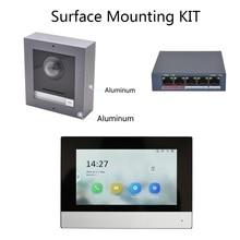 Hik оригинальный многоязычный 802.3af POE комплект видеодомофона, ip дверной звонок, наружная камера и WiFi внутренний монитор