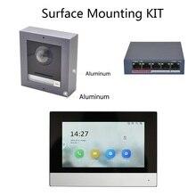 Hik الأصلي متعدد اللغات 802.3af POE فيديو طقم الاتصال الداخلي ، جرس الباب IP ، كاميرا في الهواء الطلق وشاشة داخلية واي فاي