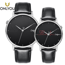ONLYOU Fashion Women Watch Leather Band Heart shape Quartz Wristwatch Female Cas