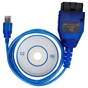 Image 2 - VAG409.1 Vag 409 VAG COM KKL409 OBD2 USB אבחון כבל סורק סריקת כלי ממשק עבור אאודי פולקסווגן פולקסווגן סקודה מושב מכונית