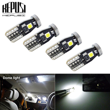4x T10 Led Car Interior Bulb Canbus Error Free White 3030 3SMD LED 12V Side Wedge Light Lamp Styling
