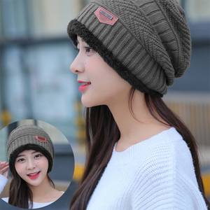 Image 4 - ファッション男性暖かいニット冬の帽子ソフト帽子skulliesビーニー冬の帽子ユニセックス秋冬ニットキャップ6色