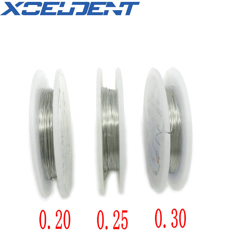 1 Roll Dental Ligature Wires Dental Orthodontic Line Stainless Steel Wire 0.20,0.25,0.30mm Optional Dentistry Instruments