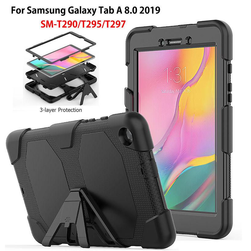 Case For Samsung Galaxy Tab A 8.0 2019 SM-T290 SM-T295 T290 T295 T297 Cover Funda Shockproof Heavy Duty With Stand Hang Capa