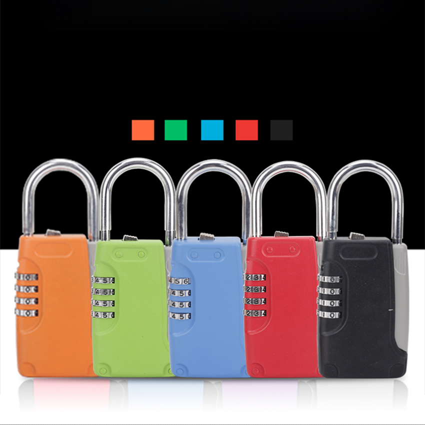 Portable Mini Password Key Safe Box Hidden Key Case 4-Digital Password Simulation Security Key Boxes Hold 4 Keys Storage Box