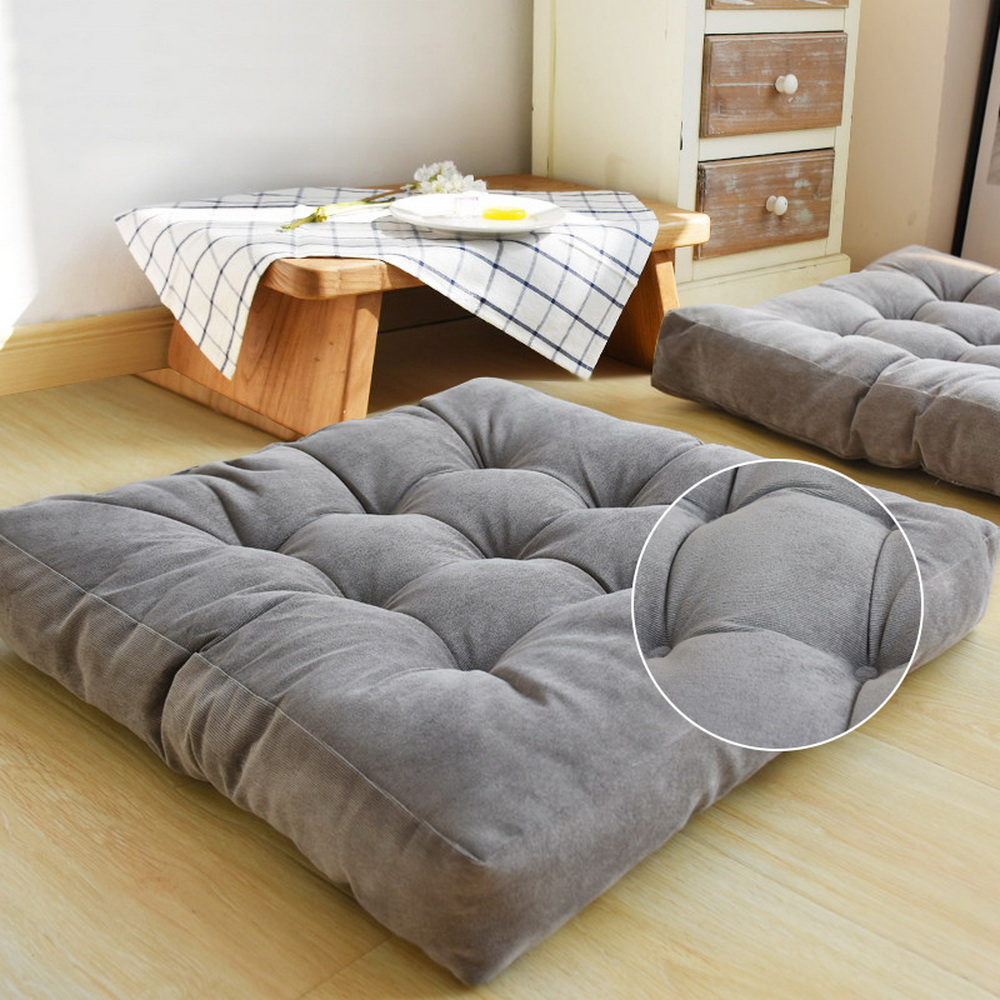 Large Corduroy Chair Cushion Thickening Anti-skid Cotton Seat Pad Winter Cushion Throw Pillow Office Bedroom Home Decor 55*55CM