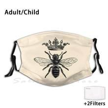 Masque de reine des abeilles françaises, Style Vintage, reine des abeilles Royale, Abeille Royale, éphémère, Shabby