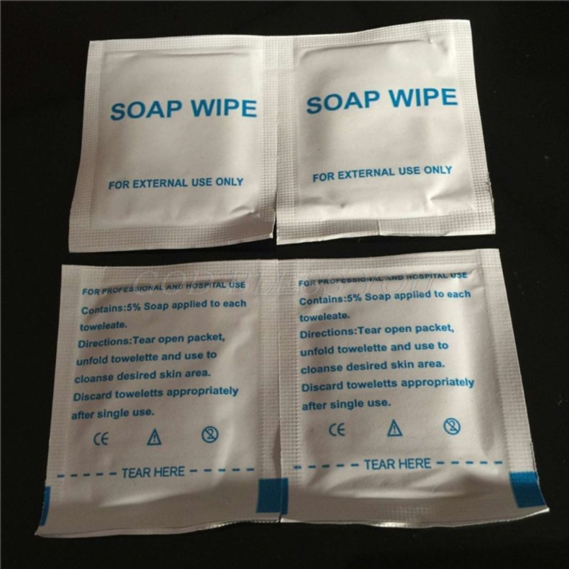 50PCS Wet Tissue Soap Wipe Cleaning Disposable Portable Outdoor Travel Wash Hands Wipes Travel Sheet For External Use