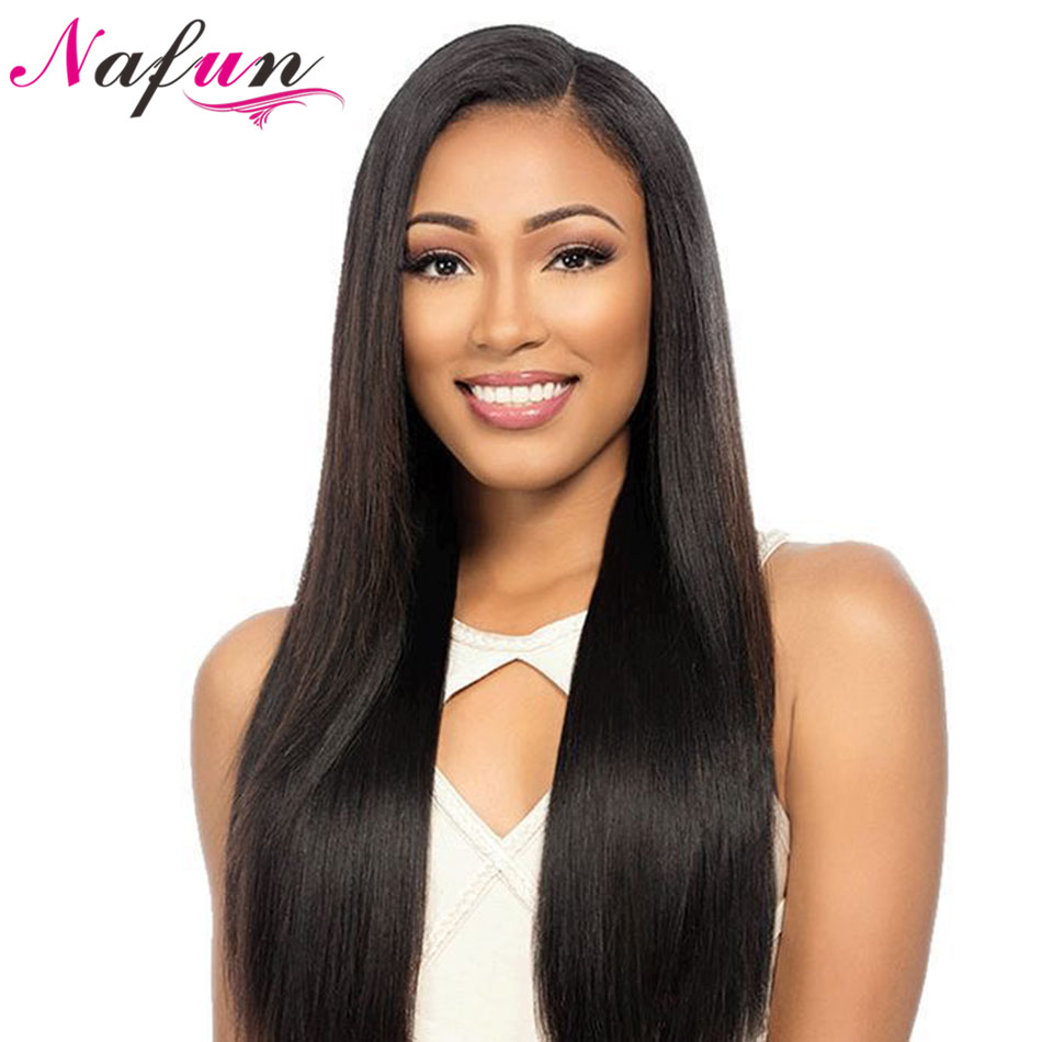 NAFUN  Lace Front Human Hair Wigs Straight Lace Front Wigs For Women Remy 150% Density Swiss Lace Wig