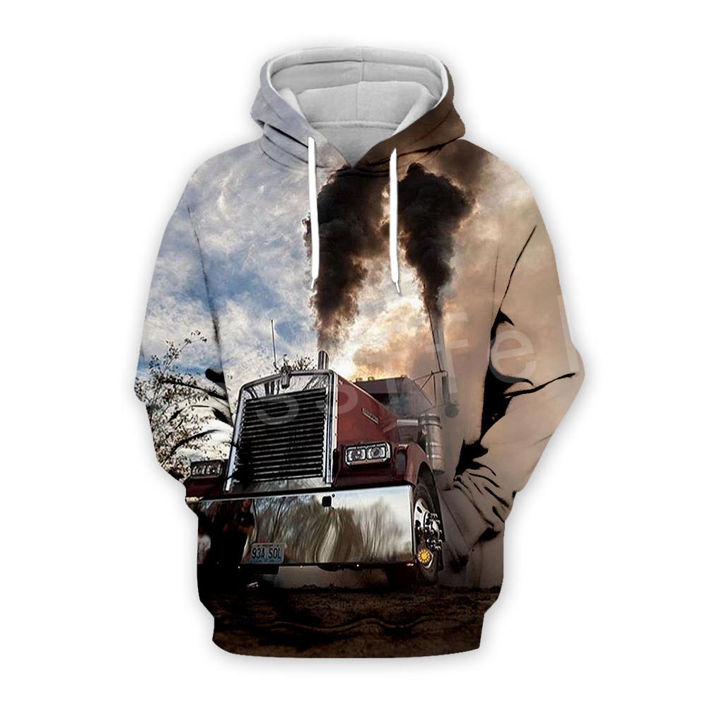 Tessffel Truck Trucker Driver Pullover Tracksuit New Fashion Crewneck MenWomen 3D Printed Sweatshirts/Hoodies/Zipper/jacket S-2