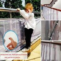 Chegada mais recente 3 m crianças rede de segurança bebê cerca trilhos escadas varanda malha proteger