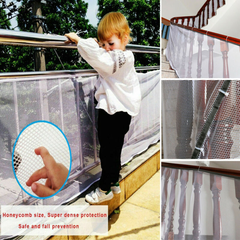 Newest Arrival 3M Children Safety Netting Baby Fence Railing Stairs Balcony Mesh Protecting