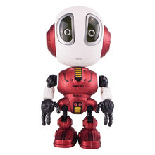 Smart Talking Robot Toy DIY Gesture Electronic Action Figure Toy Head Touch-Sensitive LED Light Alloy Robot Toys For Kids Gift(China)