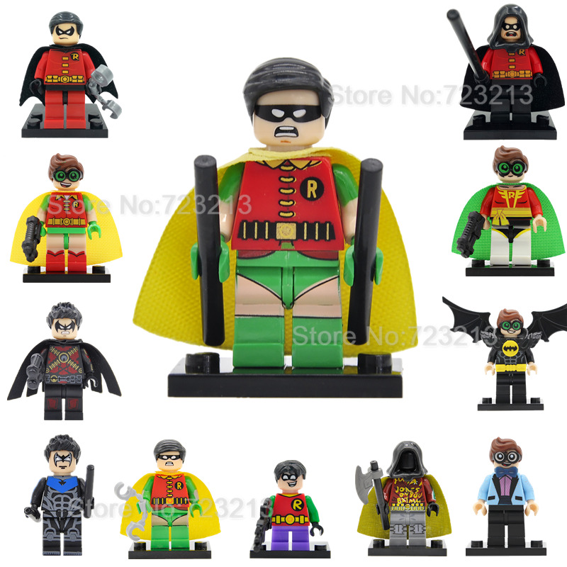 DC Super Hero Robin Figure Single Sale Building Blocks Batman Superhero Set Models Toys For Children Legoing