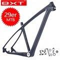 Новый BXT T800 углеродный 29er MTB рама 160 мм дисковые тормоза горный полностью углеродный каркас 29 рама карбоновая для горного велосипеда 142*12 или ...