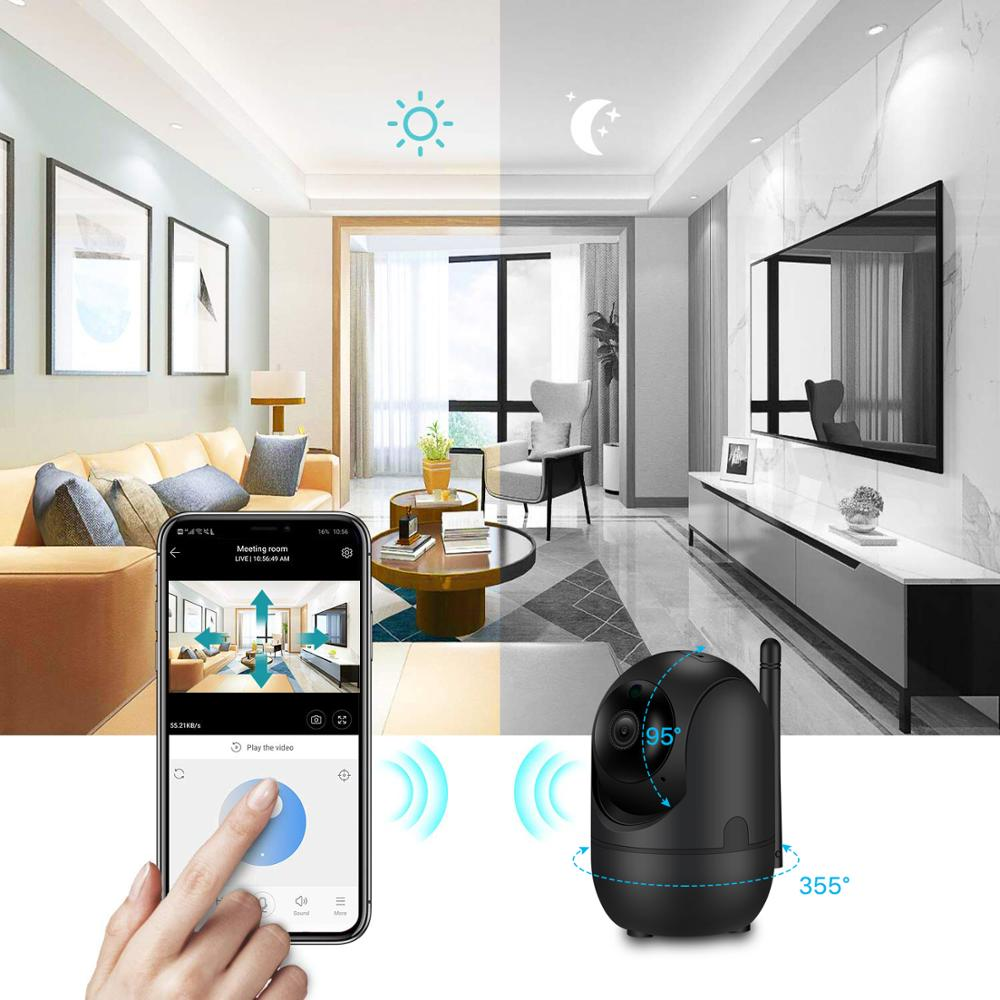 Image 4 - BESDER 1080P Wireless IP Camera Intelligent Human Auto Tracking Indoor Home Security Surveillance CCTV Network WiFi CCTV Camera-in Surveillance Cameras from Security & Protection