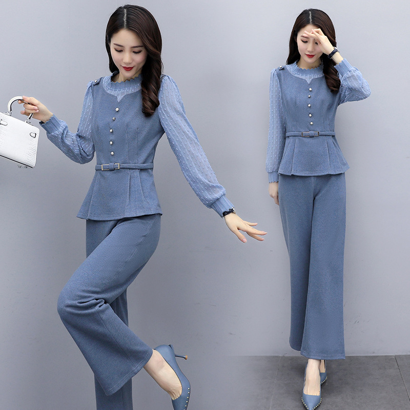 Very Fairy Of Set Two-Piece 2020 Spring And Autumn New Style WOMEN'S Dress Goddess-Style Fashion Playful Loose Pants Set Fashion