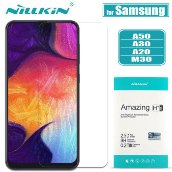 Nilkin for Samsung Galaxy A50 A30 A20 M30 Glass Screen Protector Nillkin 9H Hard Clear Safety