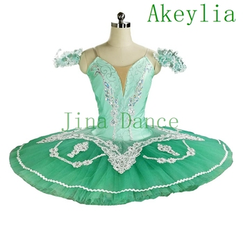 цена на Green ballet tutu Professional Tutu Classical Pancake Platter Tutu Beige Skirt Nutcracker Ballet Stage Costume Esmeralda tutu