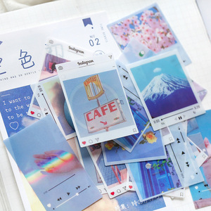 40pcs/pack Retro INS Photo Sky PVC Stickers Package DIY Diary Journal Decoration Label Sticker Album Scrapbooking