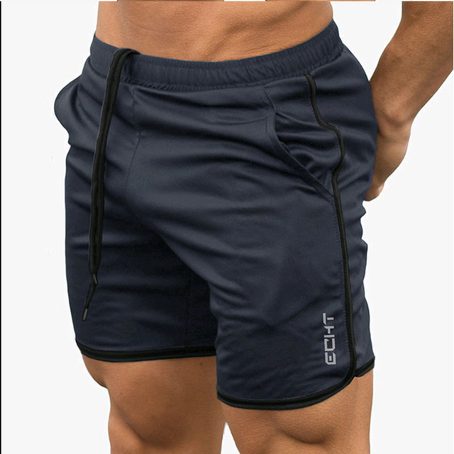 New Men Fitness Bodybuilding Shorts Man Summer  Workout Male Breathable Mesh Quick Dry Sportswear Jogger Beach Short Pants 6