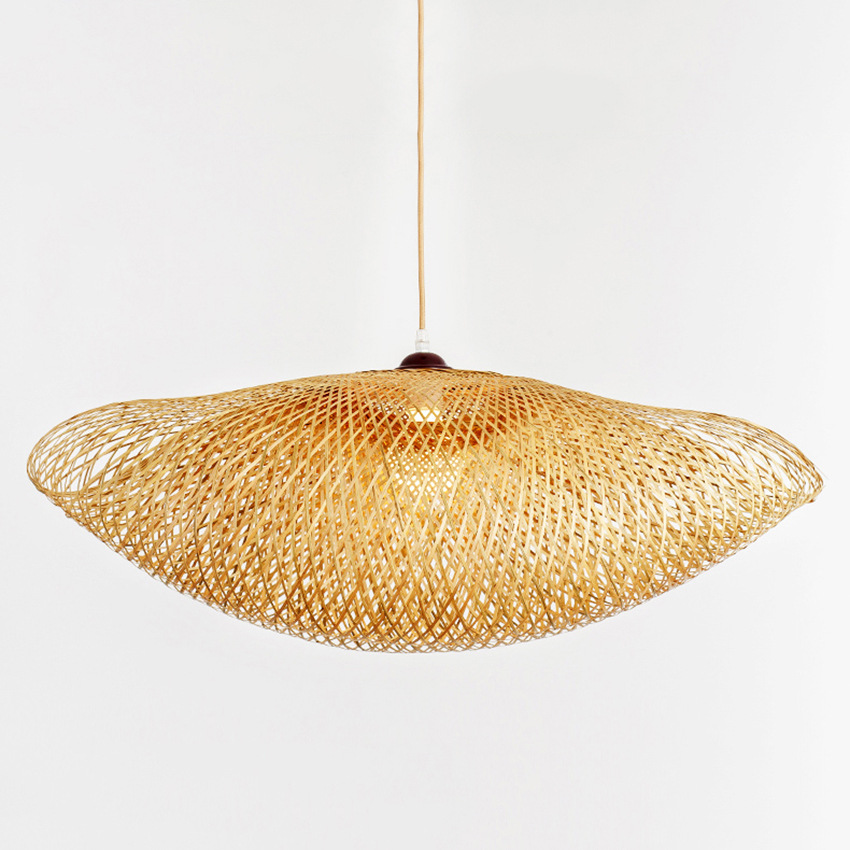 Nordic LED Wood Pendant Lamp Bamboo Kitchen Fixtures Led Pendant Light Suspension Home Indoor Dining Room Hanging Lamp Luminaire in Pendant Lights from Lights Lighting