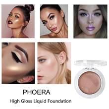 Phoera 8 cores rosto fundação bronzeadores & highlighters blush shimmer contorno dos olhos de longa duração cosméticos highlighter tslm1