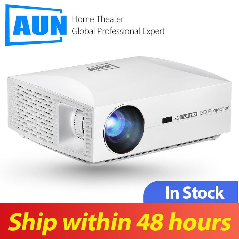 AUN Full HD Projector F30UP. TV Box $1.99, 1920x1080P. Android 6.0 (2G+16G) WIFI, LED Projector For 4K Home Cinema, HDMI Beamer.