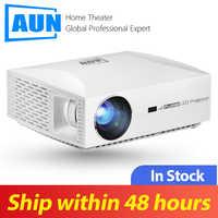 AUN projecteur Full HD F30UP. TV Box 1.99 $, 1920x1080P. Android 6.0 (2G + 16G) WIFI, projecteur LED pour Home Cinema 4 K, projecteur HDMI.