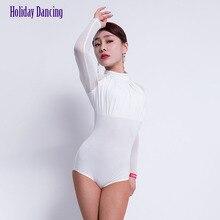 Tops Dance-Bodysuit Chacha Latin Dancing Tango Practise Performamnce Women L1093 Long-Sleeve