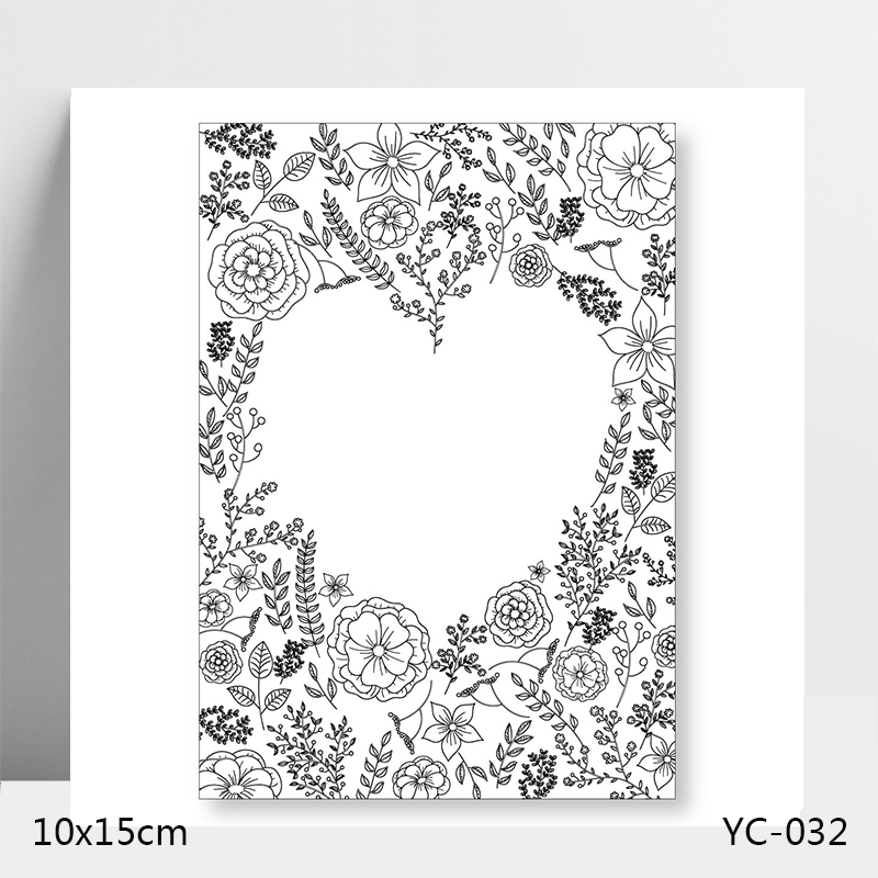 AZSG Love flowers and plants Clear Stamps/Stamp/For Scrapooking/Card Making/Silicone Stamps/Decoration Crafts