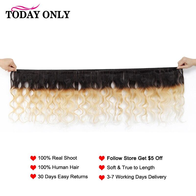 TODAY ONLY Blonde 1/3/4 Bundles Body Wave Bundles Brazilian Hair Weave Bundles Ombre Human Hair Bundles 2 Tone 1b 27 Remy Hair