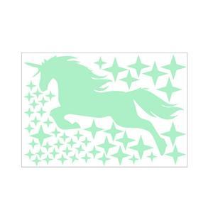 Image 3 - Autocollants lumineux, motif étoile, licorne cheval, dessin animé, étiquette fluorescente sculptée créative, décoration murale adorable, Festival de vacances