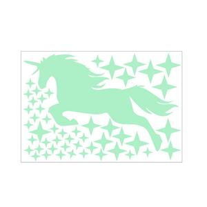 Image 3 - Luminous Stickers Cartoon Unicorn Horse Star Pattern Creative Carved Fluorescent Sticker Holiday Festival Lovely Wall Decal