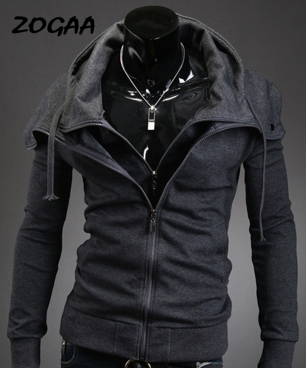 Zogaa 2019 Fashion Autumn Hooded Coat Men Casual Cardigan Sweater Jacket Plus Size S-3XL Zipper Street Mens Jackets And Coats