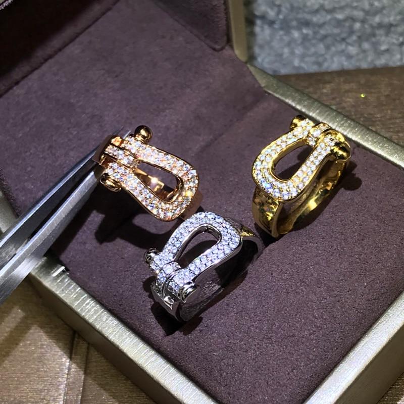925 en argent Sterling mode en forme de U Figure 8 fer à cheval anneau Fred bague célèbre marque Fine bijoux pour les femmes livraison en gros