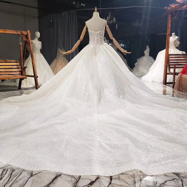 HTL1776 Luxurious White Sweetheart With Sleeveless Pearls Wedding Dress 2020 Sequined Ball Gowns свадебный халат 2