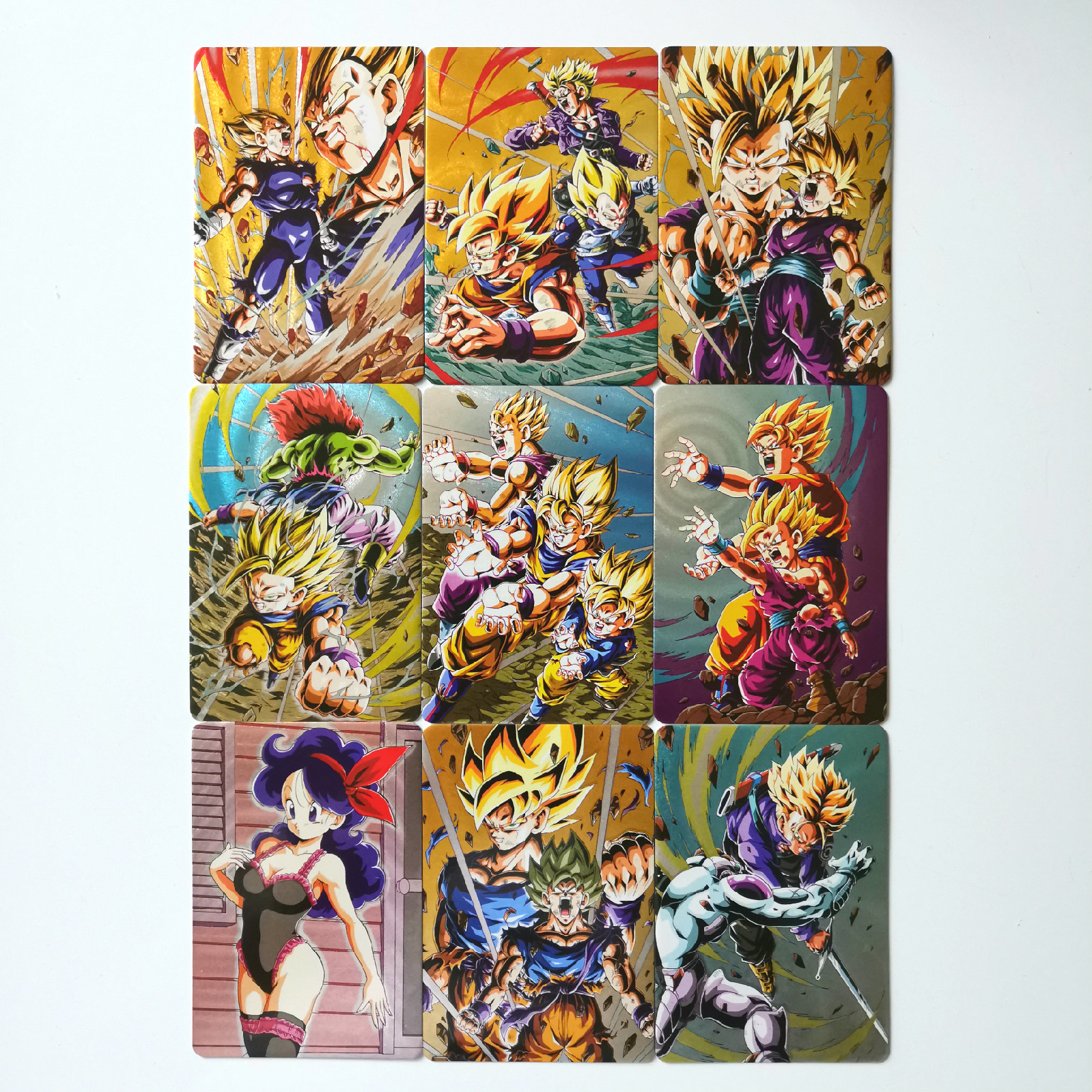 9pcs/set Warrior Thick Flash Super Dragon Ball Z Heroes Battle Card Ultra Instinct Goku Vegeta Game Collection Cards
