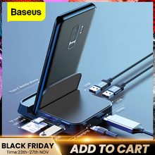 Baseus C tipi HUB yerleştirme İstasyonu Samsung S10 S9 Dex Pad İstasyonu USB C HDMI Dock güç adaptörü huawei P30 P20 Pro