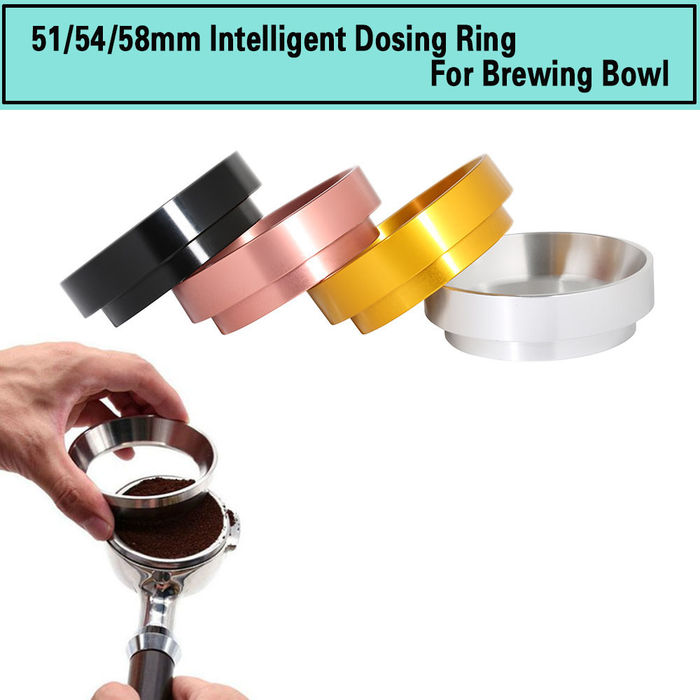 Aluminum IDR Intelligent Dosing Ring For Brewing Bowl Coffee Powder Espresso Barista Tool For 58 51 54MM Profilter Coffee Tamper