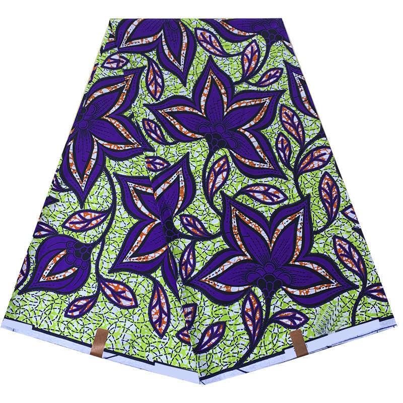 Nieuwe Aankomst Afrikaanse Wax Print Stof Hoge Kwaliteit Gegarandeerd Ankara Dashiki 100% Katoen Door 6Yards
