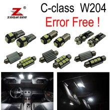 Kit d'éclairage intérieur pour voiture, 21 pièces, pour Mercedes benz classe C W204 C200 C220 C230 C250 C280 C300 C350 C63 AMG (08-14)