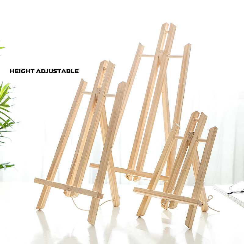 Natural Wood Easel Set Painting Kids Craft DIY Drawing Small Table Easel for School