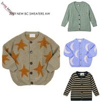 2019 New Autumn Winter BC Brand Kids Sweaters Boys Girls Fashion Print knit Cardigan Baby Children Cotton Tops Clothes