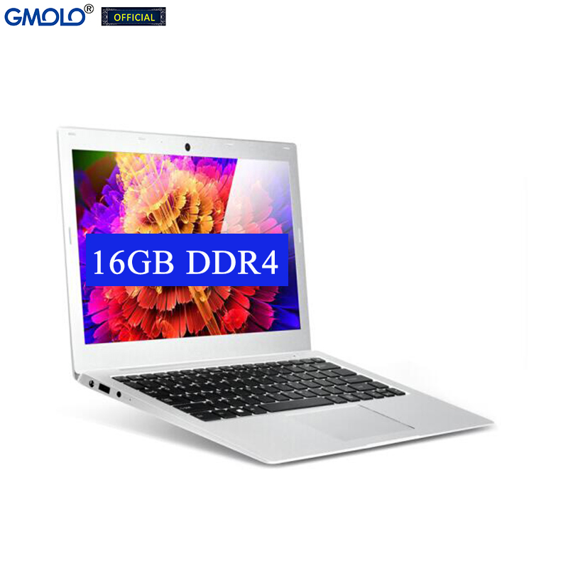 GMOLO 13.3 Intel I7 7th Gen 7500U 16GB DDR4 RAM or 8GB  256GB SSD + 1TB HDD 13.3inch IPS screen metal gaming laptop computer