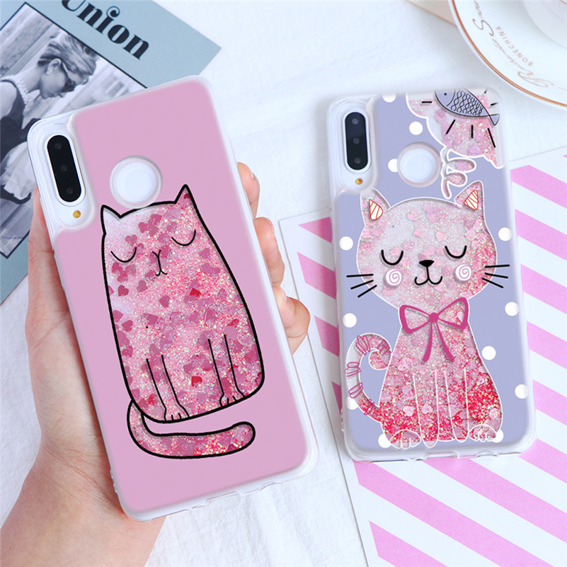 Quicksand Case For <font><b>Huawei</b></font> Honor 8 8C 8X 9 Lite View 10 20 4C 5C 5X 6A 6X 7 7X G8 Y5 Y6 II <font><b>Y7</b></font> Prime Pro <font><b>2017</b></font> Y9 2018 2019 Cover image
