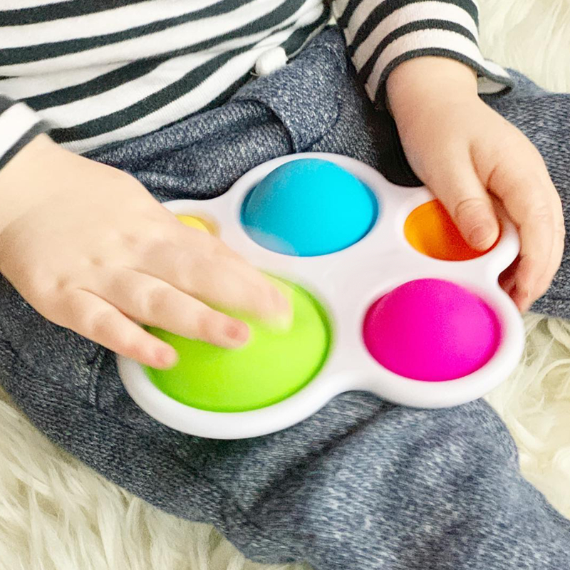 Infant Baby Toys Montessori Exercise Board Rattle Puzzle Colorful Intelligence Early Education Intensive Training 2