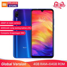 Xiaomi Redmi Note 7 4GB 64GB Quick Charge 4.0 Bluetooth 5.0 Octa Core Face Recognition/fingerprint Recognition